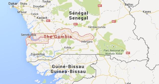 Gambian kartta