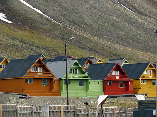Longyearbyen, Huippuvuoret. . Kuva: Claumoho, Flickr.com.