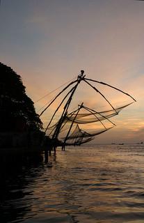 Kalastusverkkoja, Cochin, Kerala