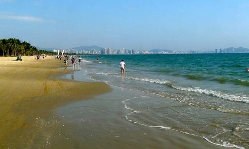 Sanya Beach, Hainan, Kiina.