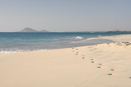 Valkoista rantahiekkaa, Kap Verde.