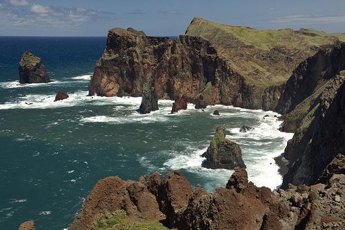 Madeiran rannikkoa.