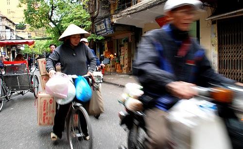 Katunäkymä, Hanoi, Vietnam.