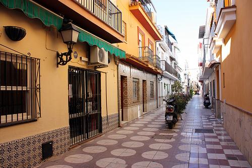 Katunäkymä, Fuengirola, Espanja.