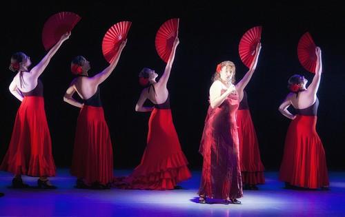 Flamenco-tanssijoita ja laulaja