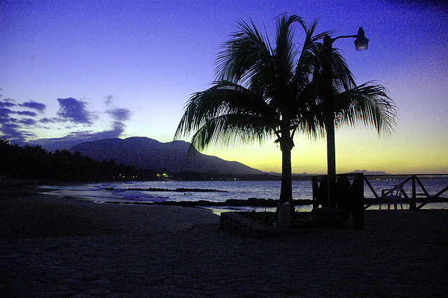 Auringonlasku, Playa Dorada